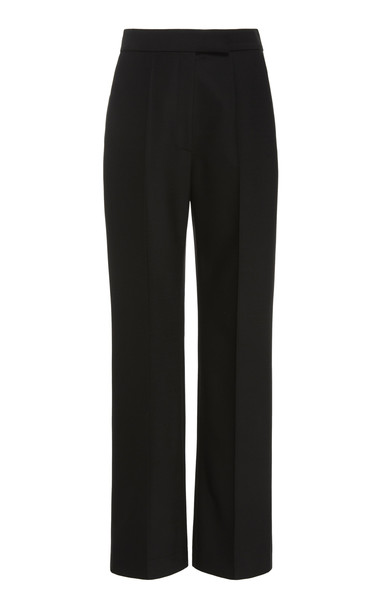 Partow Dalton Tailored Wool-Blend Pants Size: 0 in black