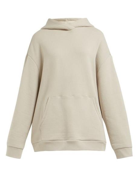 Raey - Japanese Cotton Jersey Hooded Sweatshirt - Womens - Grey