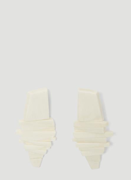 Monies Julie Clip On Earrings in White size One Size
