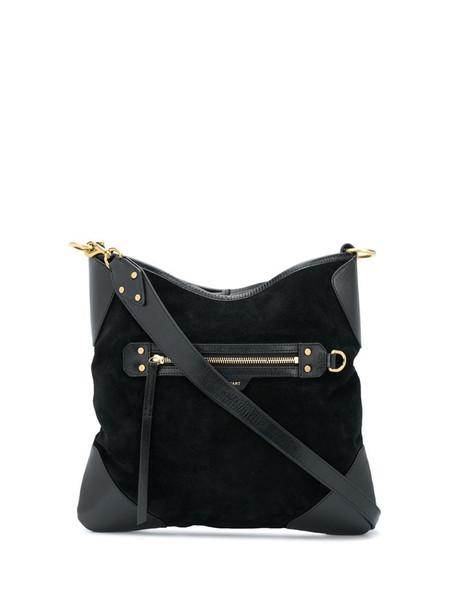 Isabel Marant square fabric shoulder bag in black