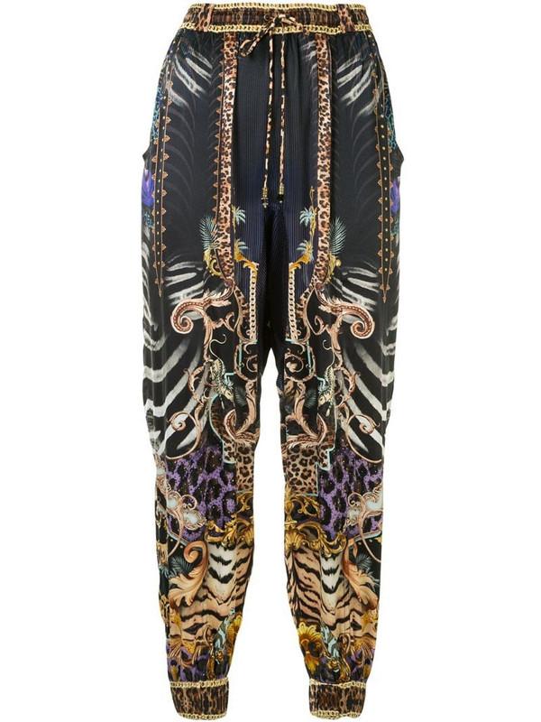 Camilla animal print trousers