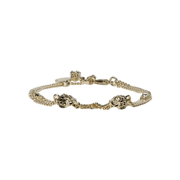 Alexander McQueen Gold Multi Chain Bracelet