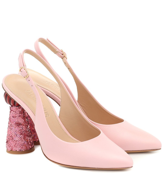 Jacquemus Les Chaussures Loiza leather pumps in pink