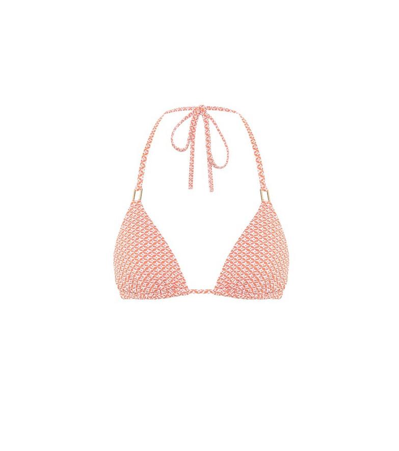 Melissa Odabash Cancun printed triangle bikini top in orange
