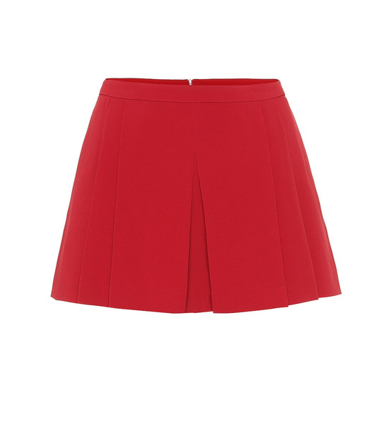 REDValentino High-rise crêpe shorts in red