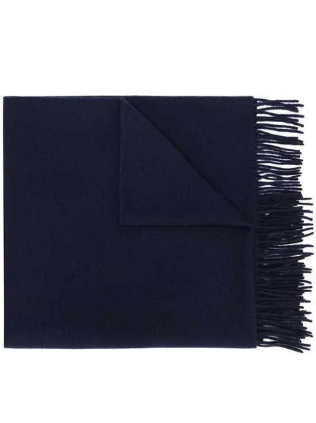 Acne Studios fringed scarf in blue