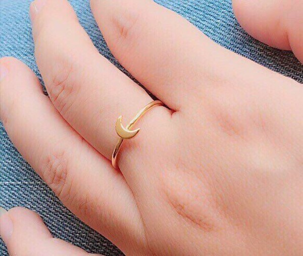 jewels moon ring jewelry knuckle ring silver jewelry minimalist jewelry silver rings for women