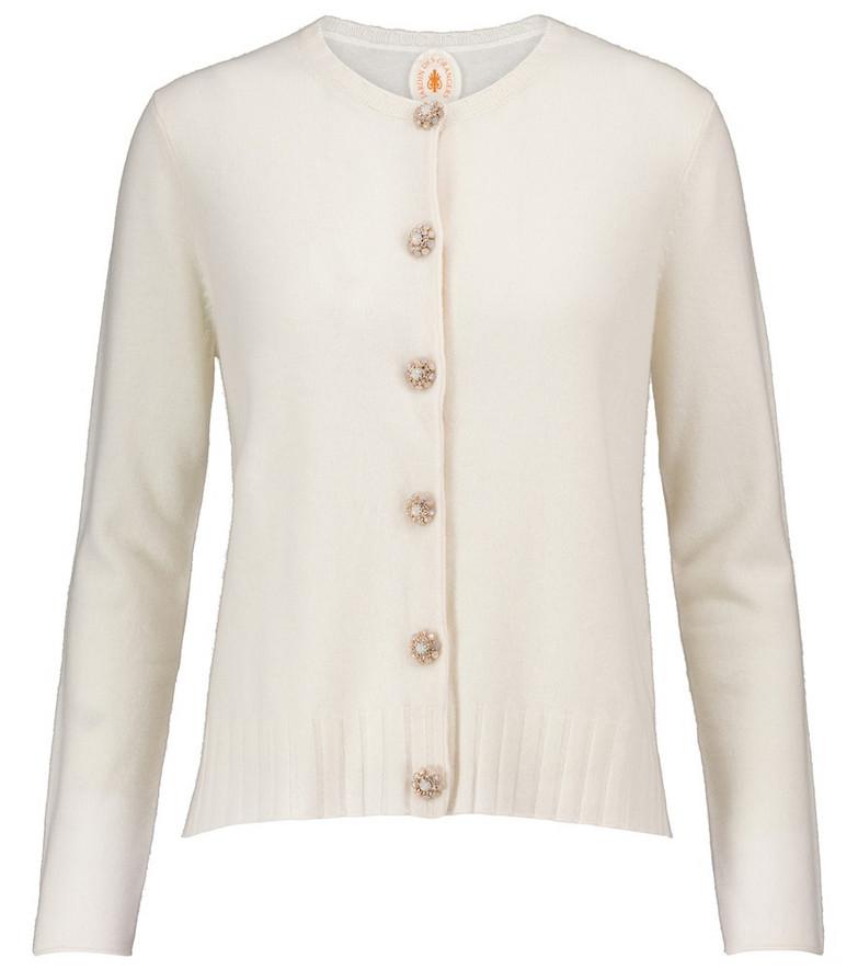 Jardin des Orangers Wool and cashmere cardigan in beige