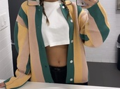 coat,colorblock,maria ciuffo,oversized jacket