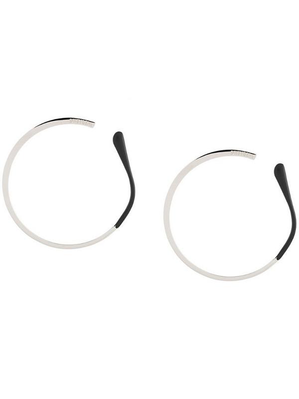 d'heygere temple large hoop earrings in silver