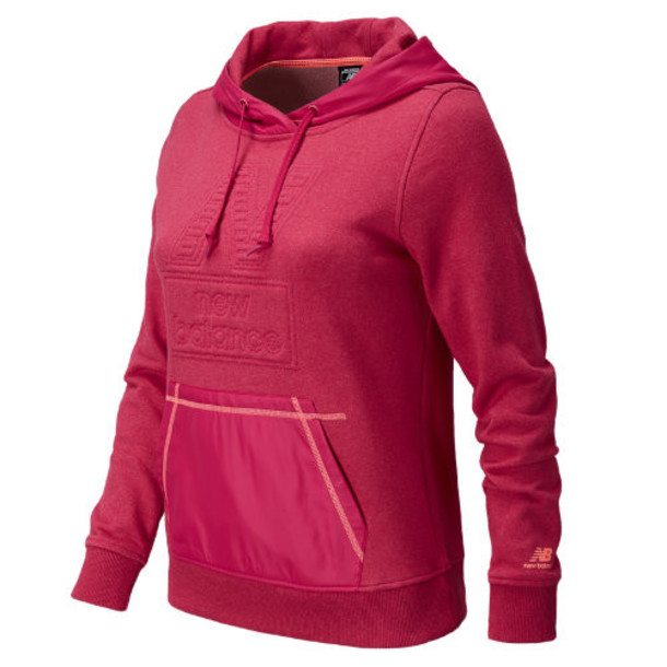 New Balance 5126 Women's NB Pullover Hoodie - Popsicle Pink, Fiji (AWLT5126PSK)