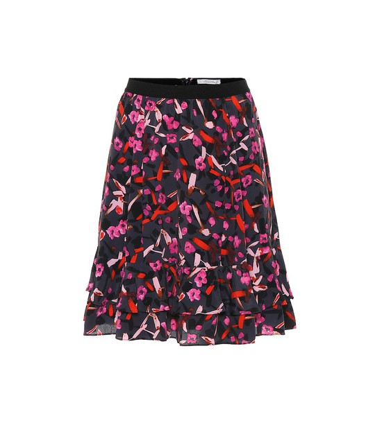 Dorothee Schumacher Abstract Flowering floral miniskirt in grey