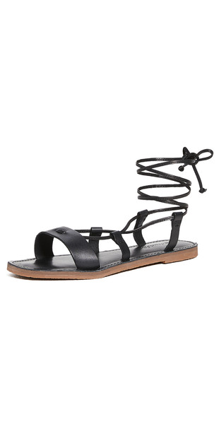 Madewell Boardwalk Lace Up Sandals in black