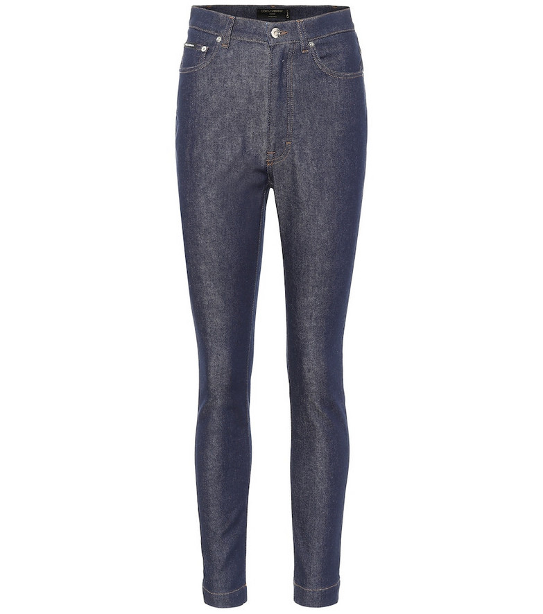 Dolce & Gabbana High-rise skinny jeans in blue