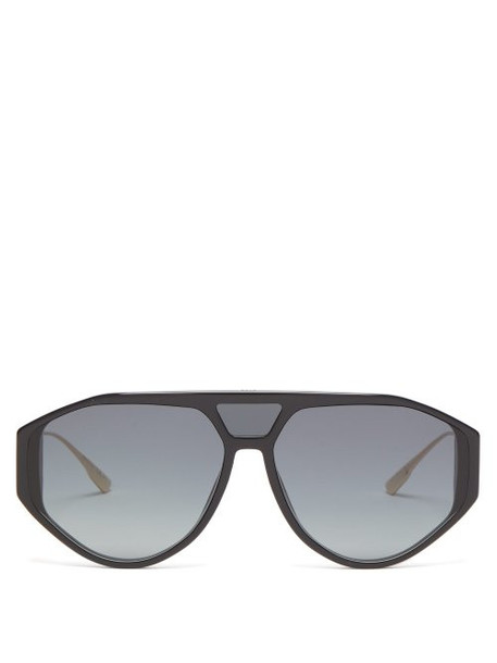 Dior Eyewear - Diorclan1 Aviator Acetate Sunglasses - Womens - Black