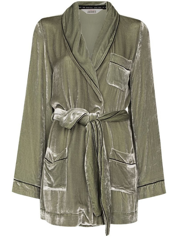 SLEEPING WITH JACQUES The Bon Vivant Robe lounge jacket in grey