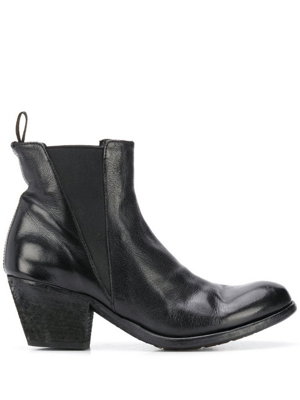 Officine Creative curved ankle boots in black