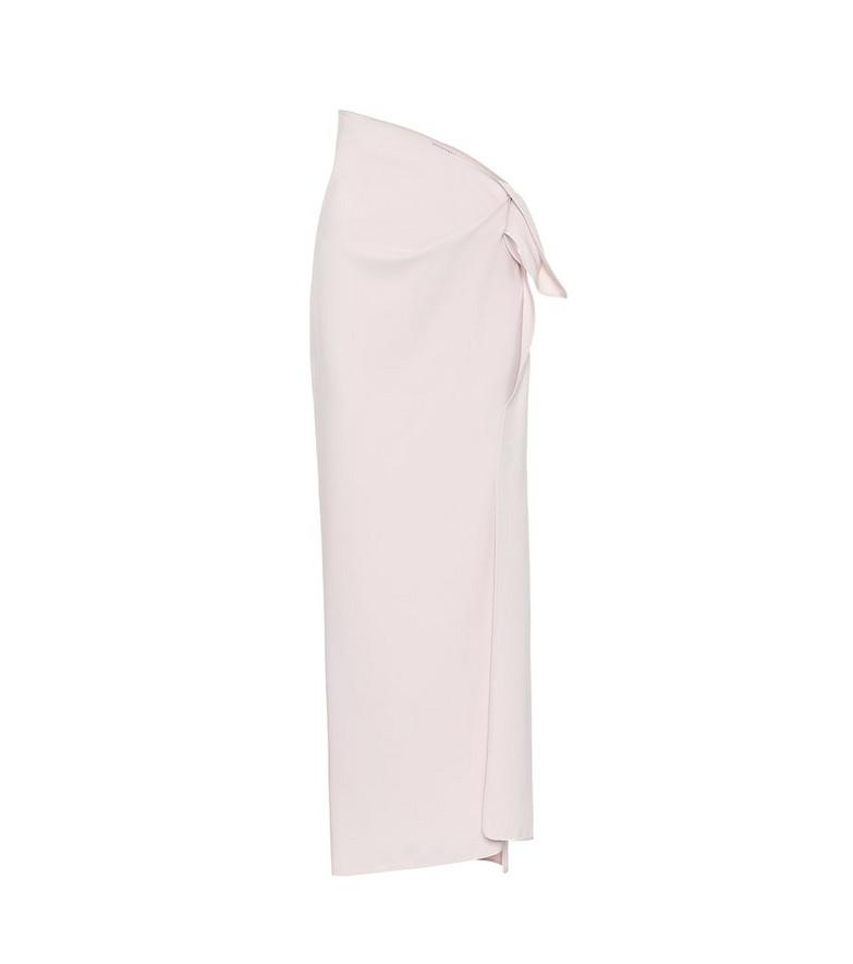 Maticevski Promised stretch-crêpe maxi skirt in beige