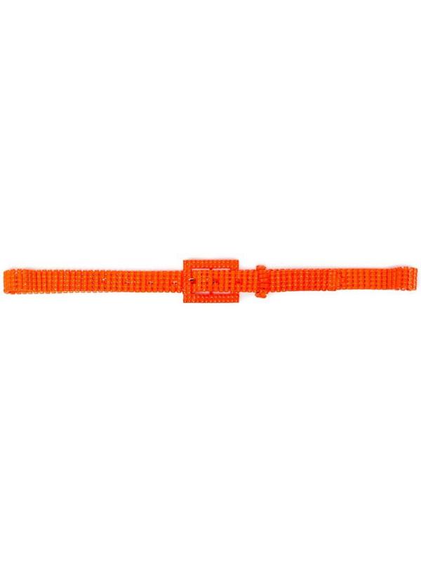 Black & Brown lorna beaded belt in orange