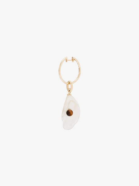 By Pariah 14K yellow gold Lecce pearl and tiger eye earring