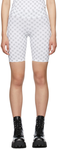 MISBHV White Monogram Biker Shorts