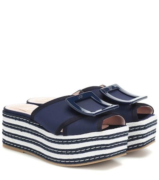 Roger Vivier Biki Viv' 70 espadrille sandals in blue