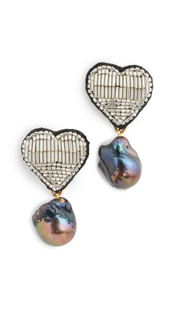 Lizzie Fortunato French Heart Earrings in multi