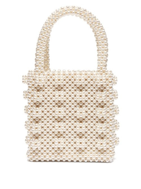 Shrimps - Antonia Faux Pearl Embellished Bag - Womens - Cream