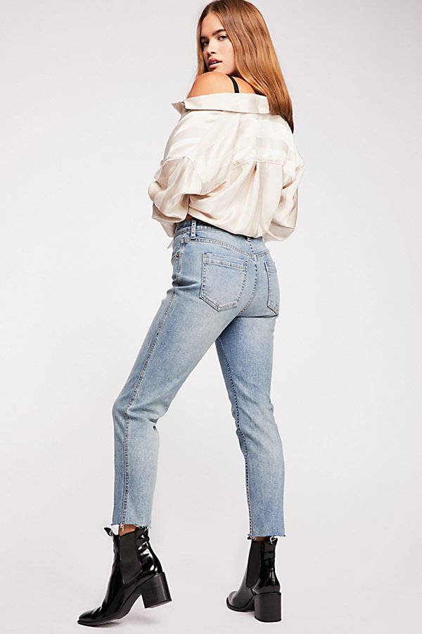 Crvy High-Rise Vintage Straight Jeans  by We The Free at Free People