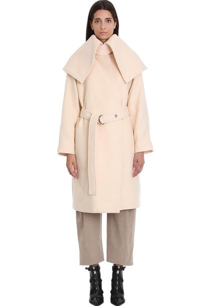 Chloé Chloé Coat In Rose-pink Wool