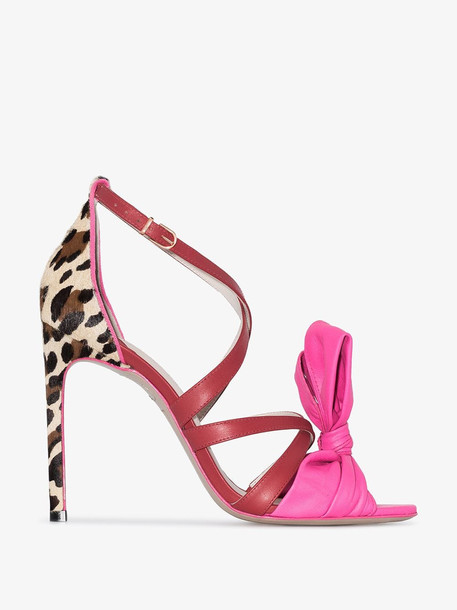 Sophia Webster Multicoloured Bonnie 100 strappy leatherjackets sandals in pink