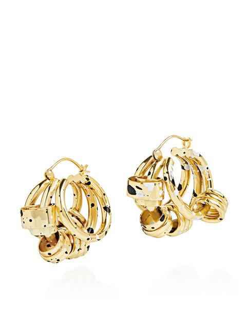 Ellery Nelson Splatter Coiled Earrings Gold