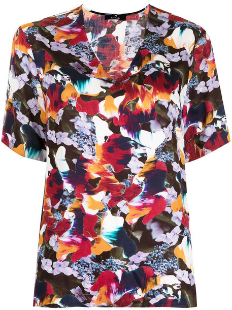 PS Paul Smith Marble Floral print t-shirt