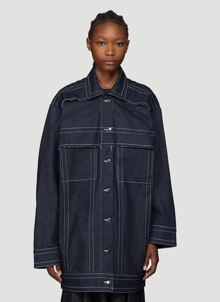 Laerke Andersen Wrap Jacket in Blue size One Size