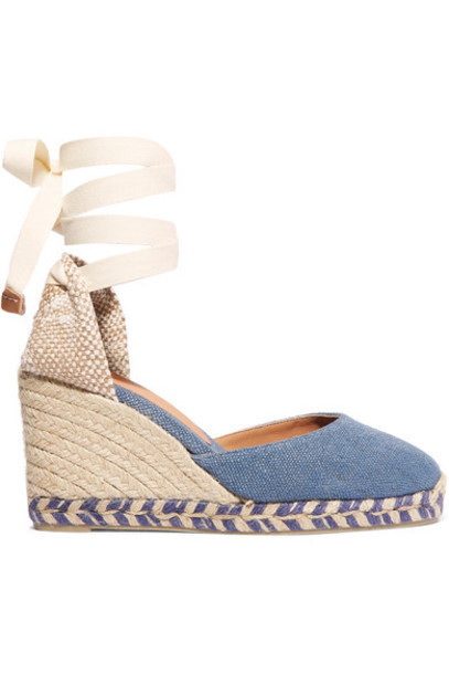Castañer - Carina 80 Canvas Wedge Espadrilles - Mid denim