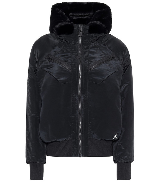 Nike Jordan reversible bomber jacket in black