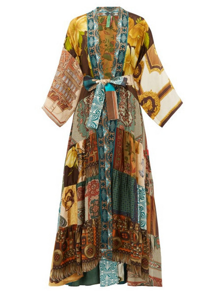 Rianna + Nina Rianna + Nina - Vintage Silk Patchwork Kimono - Womens - Multi