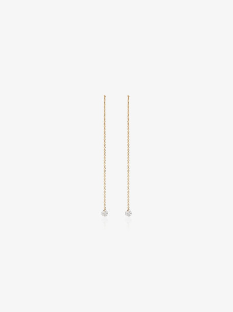 Persée 18K yellow gold and diamond drop thread earrings