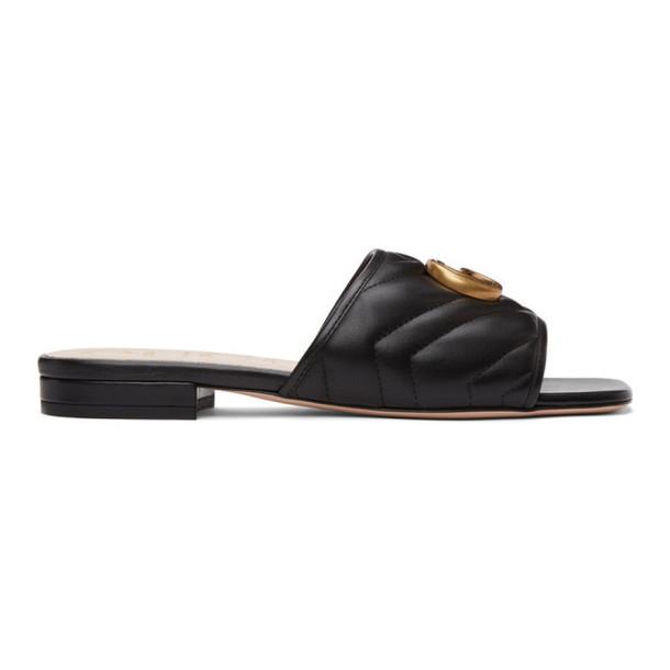 Gucci Black Matelasse GG Jolie Sandals