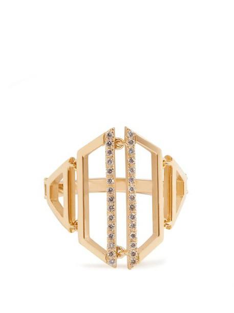 Susan Foster - Diamond & Yellow Gold Ring - Womens - Gold