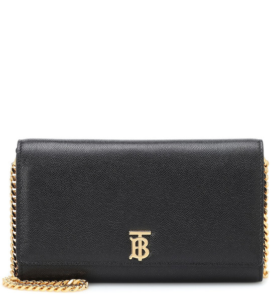 Burberry Hannah leather clutch in black