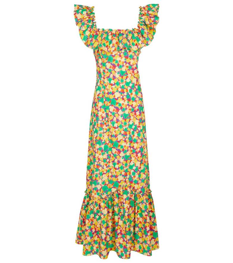 Rixo June printed cotton midi dress