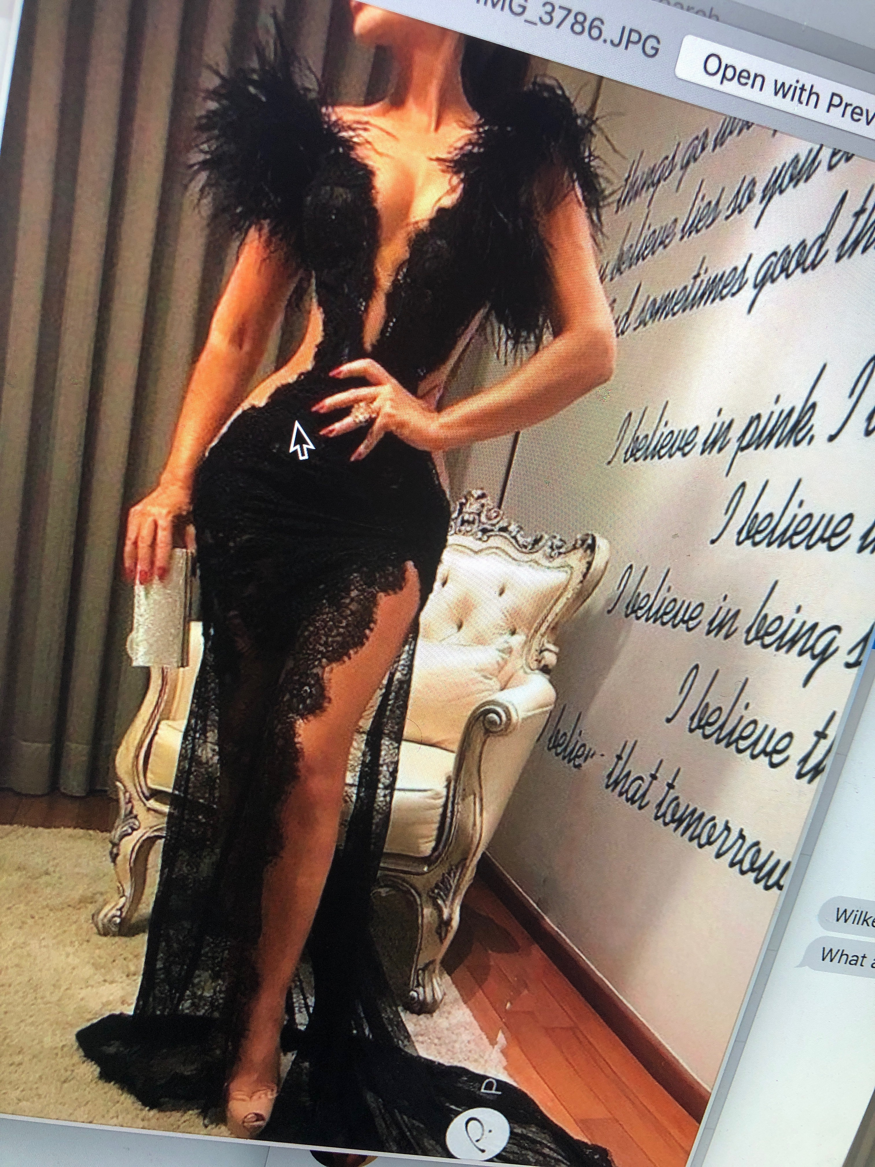 dress feathered shoulders deep v train peep leg black dress mesh