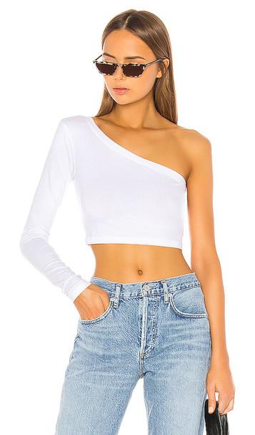 COTTON CITIZEN Brisbane Crop Shirt in White