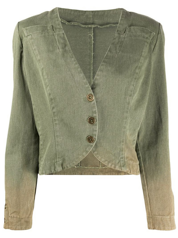 Fendi Pre-Owned 1980s cropped jacket in green