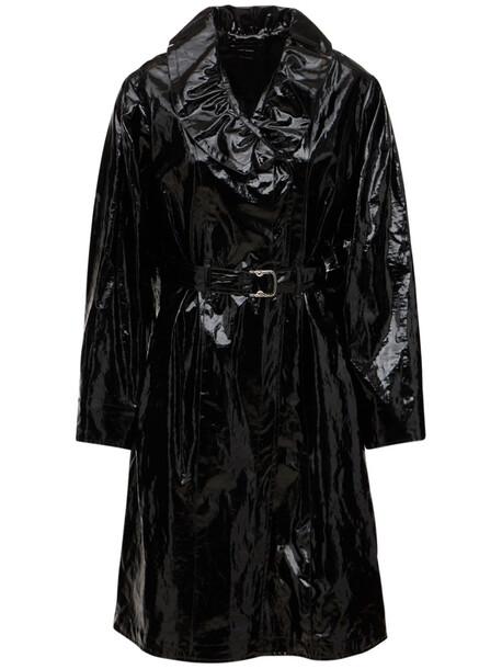 ISABEL MARANT Epanima Coated Linen Coat in black