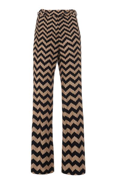 Missoni Zig-Zag Stretch-Wool Straight-Leg Pants in multi