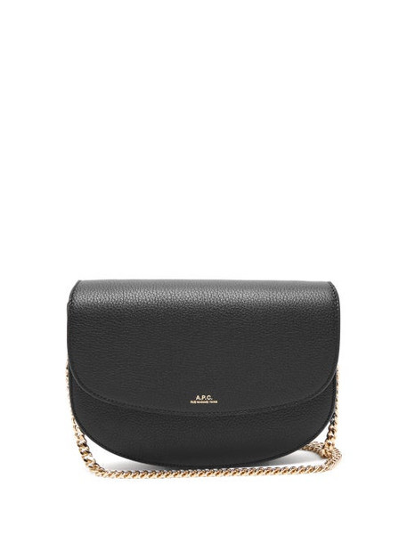 A.P.C. A.p.c. - Geneve Grained Leather Cros Body Bag - Womens - Black