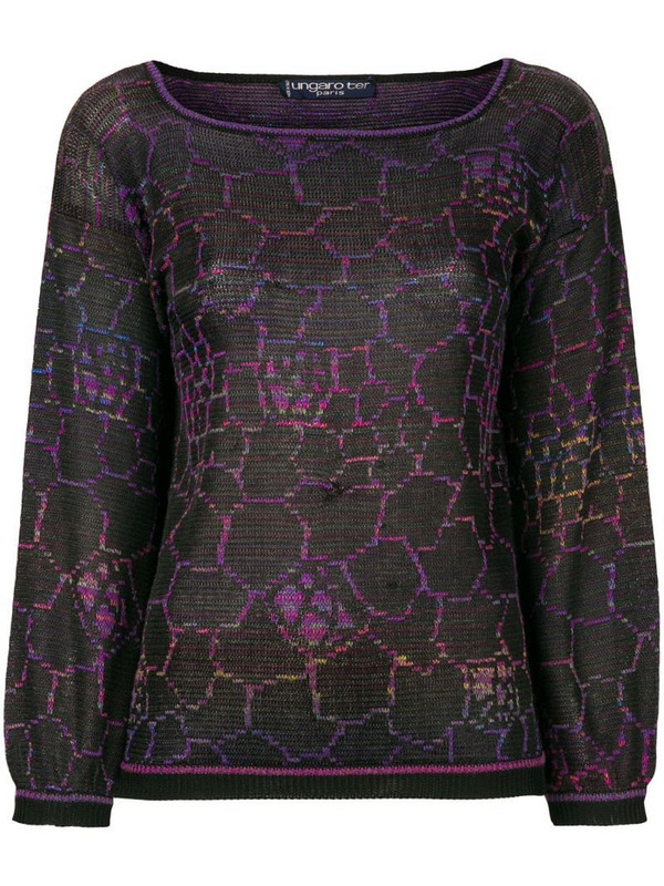 Emanuel Ungaro Pre-Owned geometric knit top