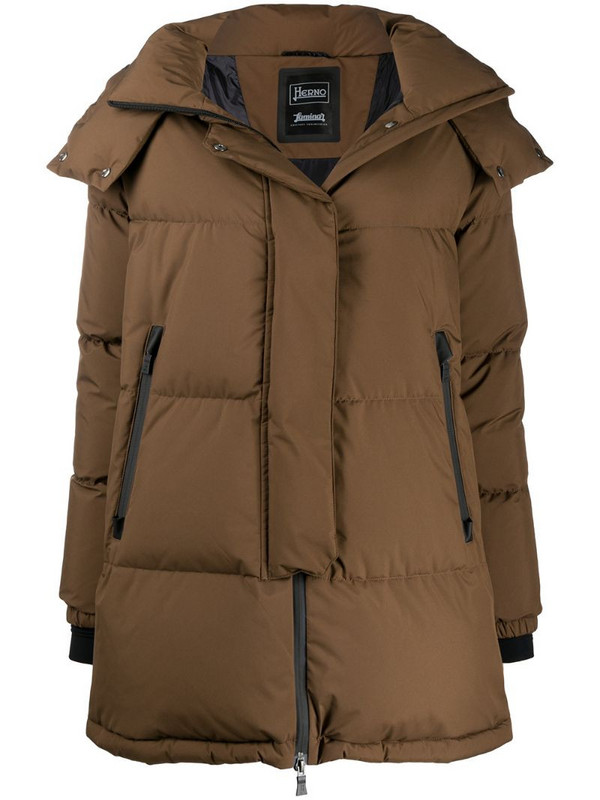 Herno oversize puffer jacket in brown